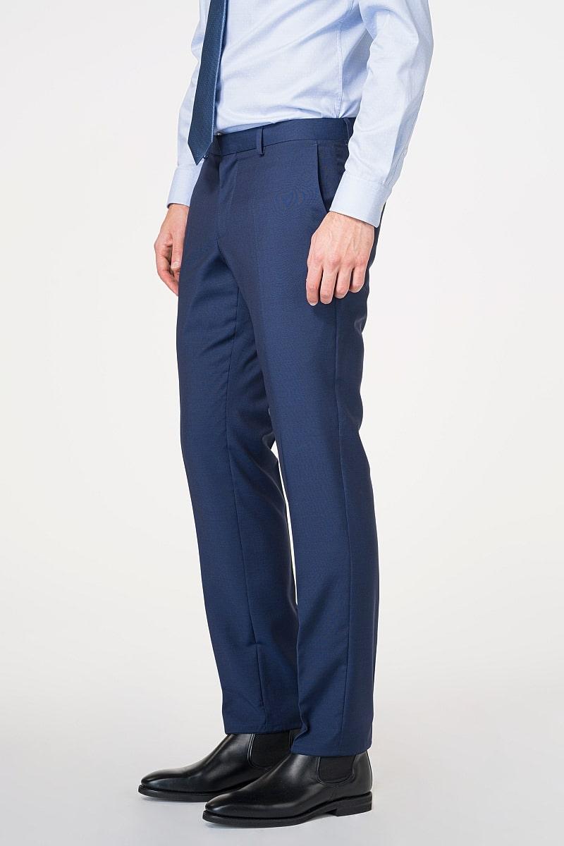Muške hlače od odijela plave boje 100's - Regular fit