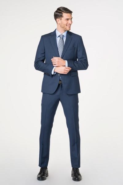 Muško odijelo plave boje od runske vune 110's - Regular fit