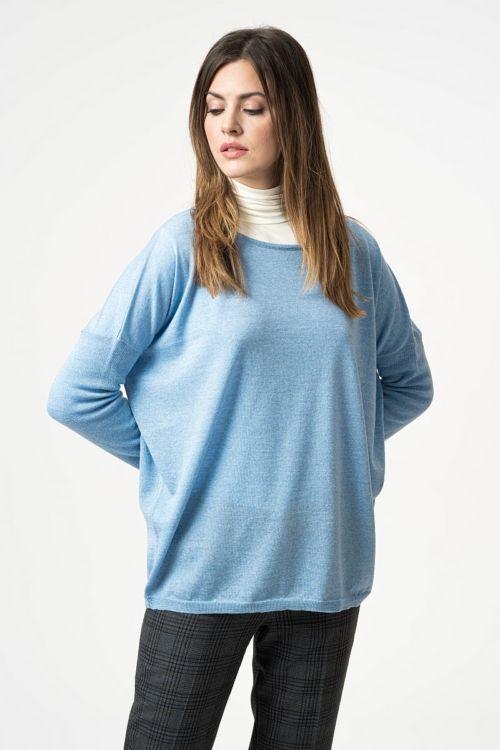Ženski pulover šireg kroja od merino vune