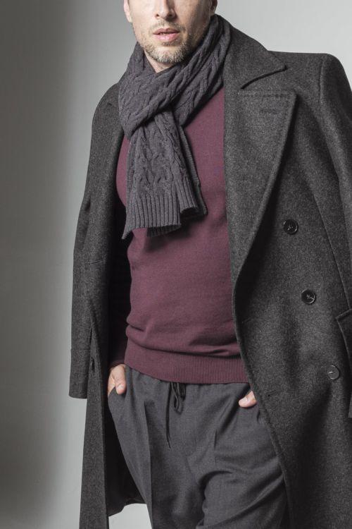 Klasični muški chesterfield kaput sive boje