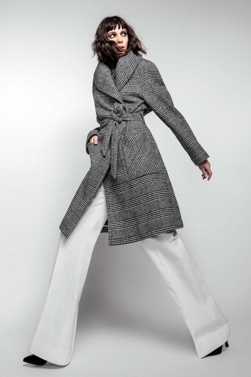 Ženski wrap kaput Wales uzorka