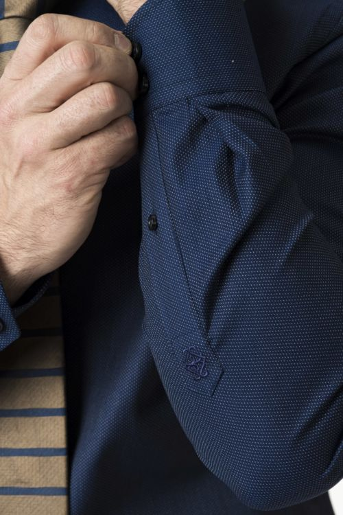 Muška tamno plava košulja - Slim fit