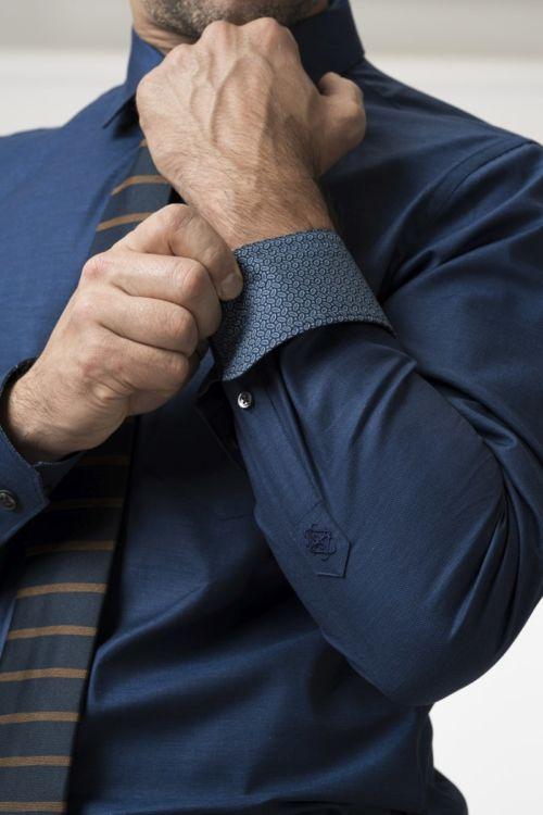 Muška košulja u dvije tamne boje - Slim fit