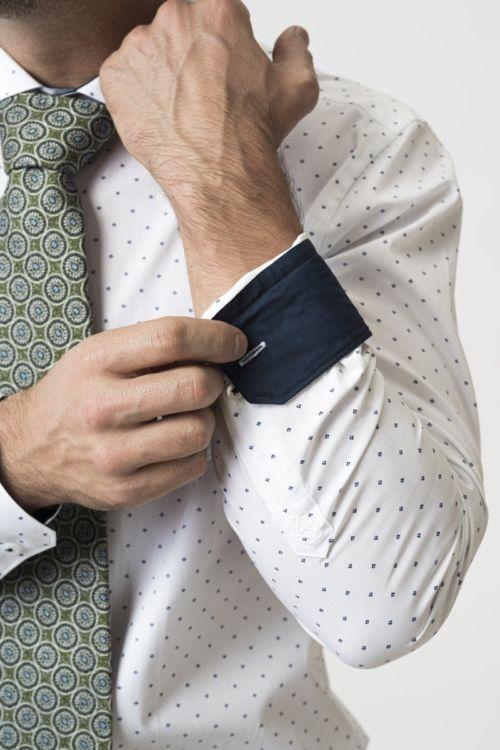 Muška košulja s točkastim printom - Slim fit
