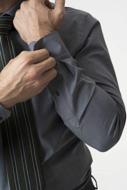 Muška klasična siva košulja - Slim fit