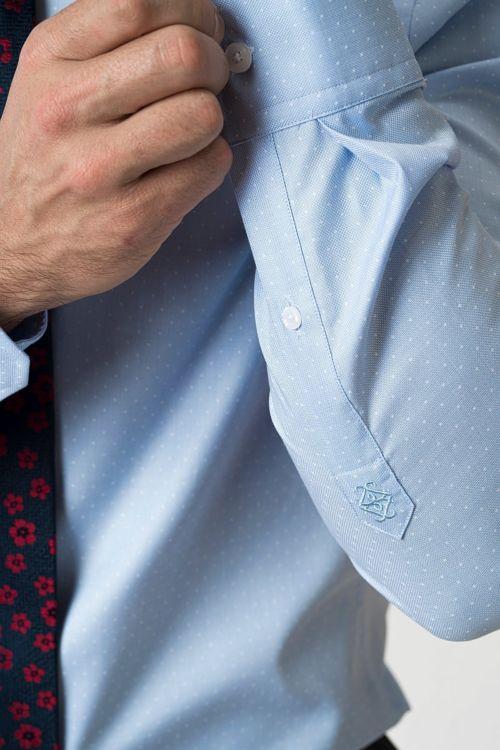 Muška košulja s decentnim točkastim uzorkom - Slim fit