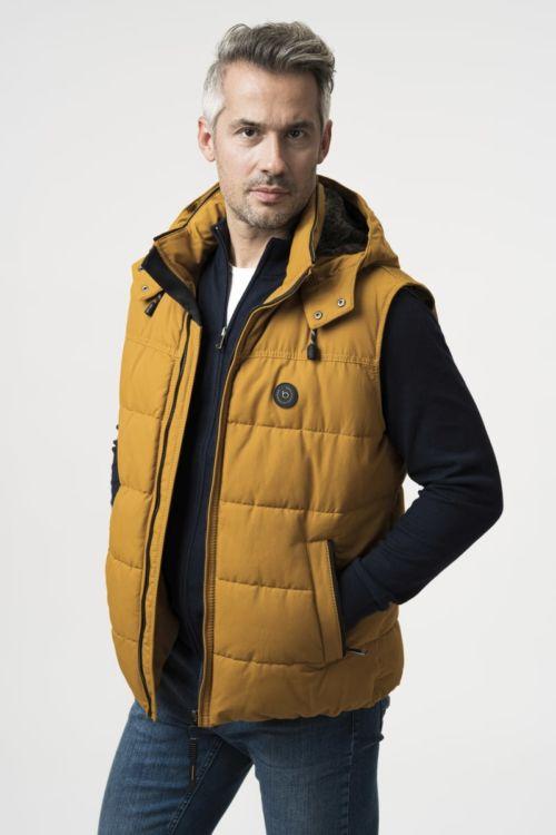 Muški prsluk s kapuljačom žute boje - bugatti