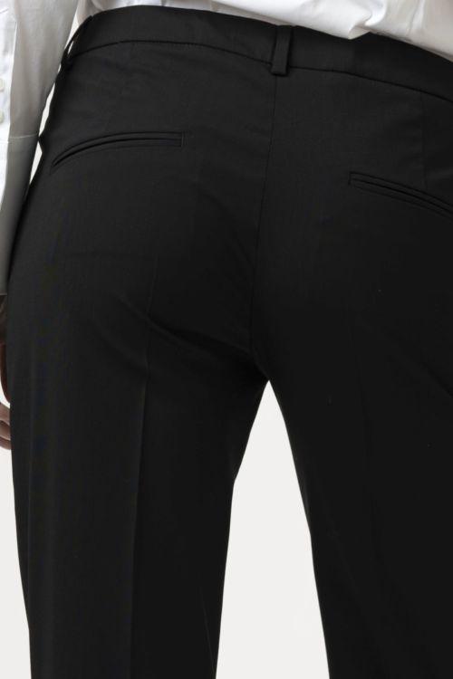 Ženske crne poslovne hlače na crtu ravnog kroja