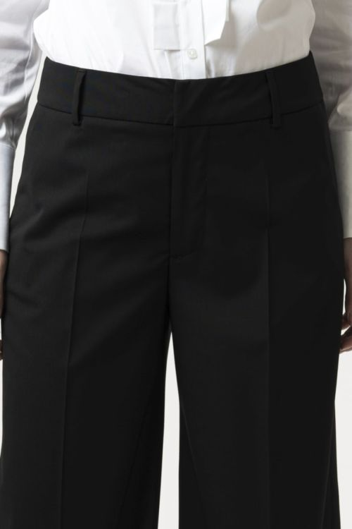 Crne ženske hlače Palazzo kroja