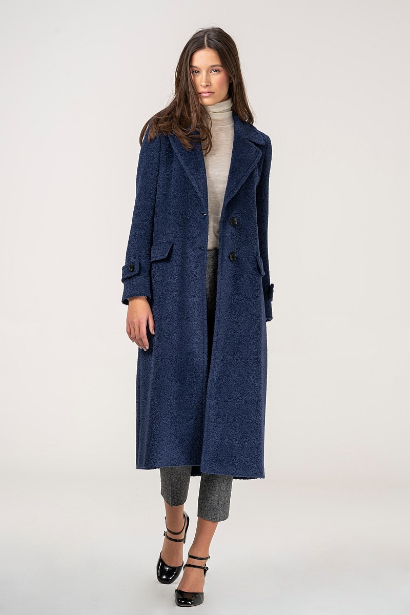 Varteks Long elegant women's coat in two colors