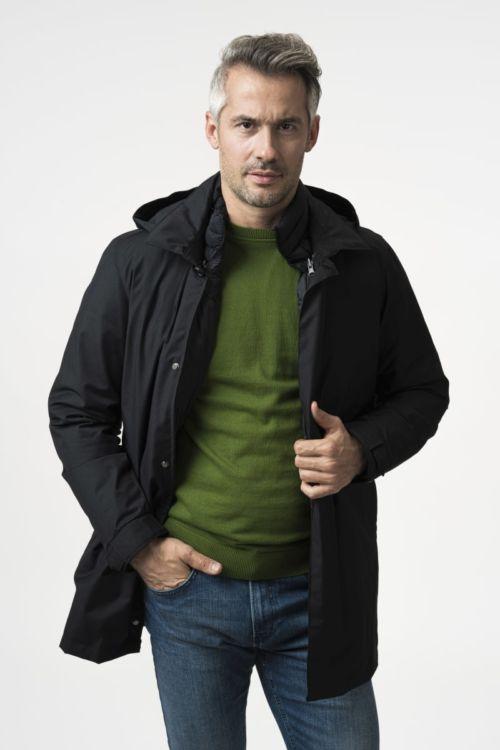 Muška zimska jakna s kapuljačom