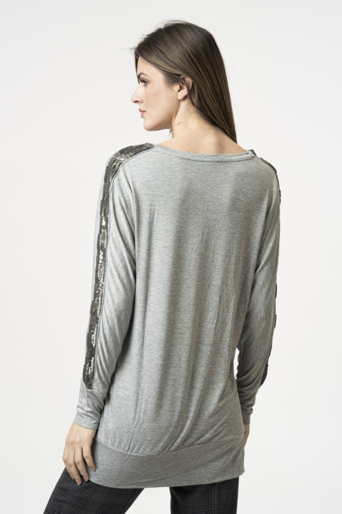 Varteks Gray casual blouse with effective detail