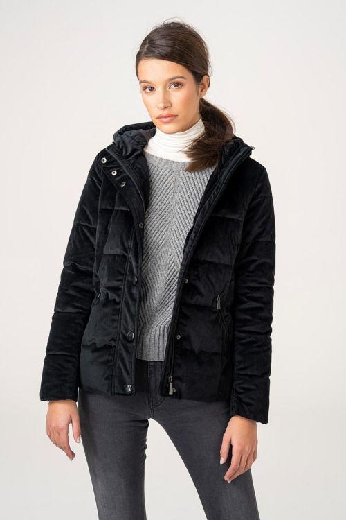 Kratka baršunasta jakna u dvije boje