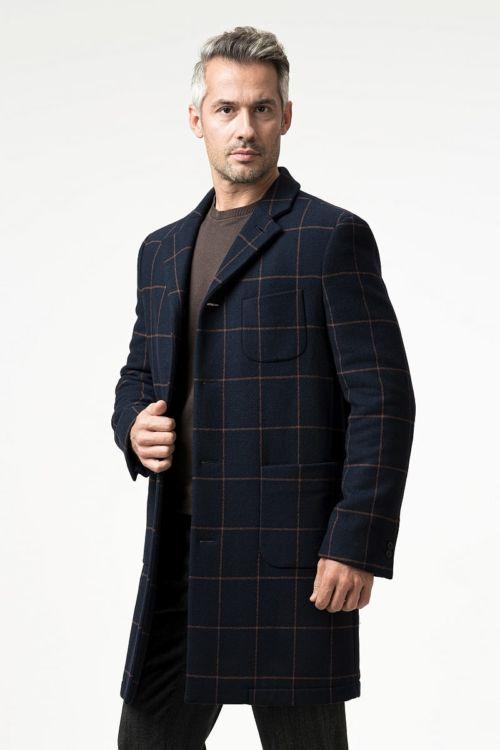 Muški chesterfield karirani kaput