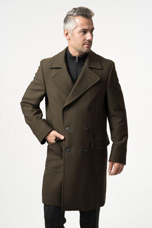 Muški chesterfield kaput u cedar smeđoj boji