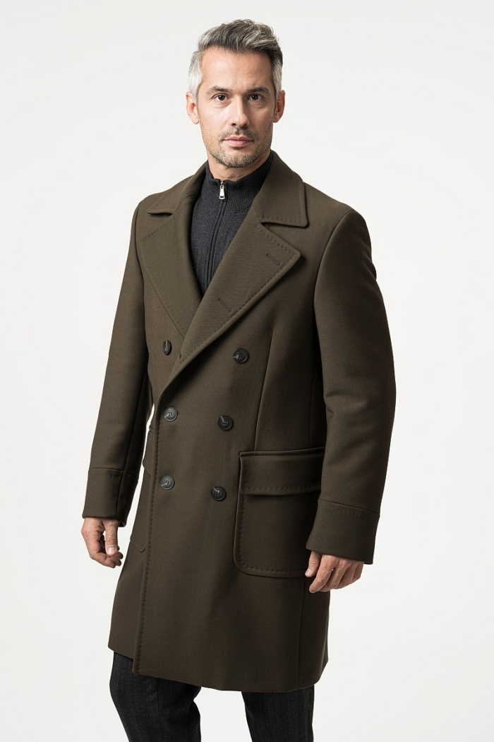 Men's chesterfield cedar brown coat