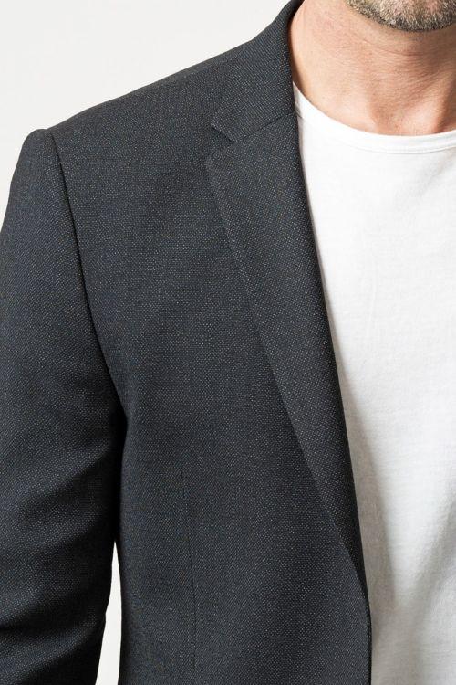 Crni muški sako klasičnog kroja - Slim fit