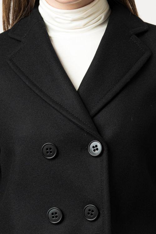 Crni mornarski kratki kaput