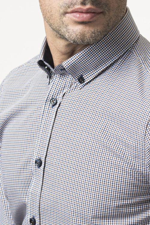 Muška atraktivna karirana košulja - Slim fit