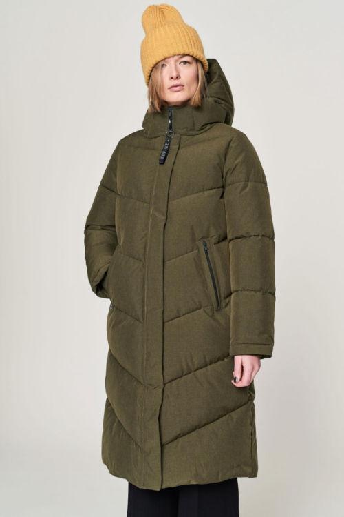 Zimska jakna maslinasto zelene boje - Elvine