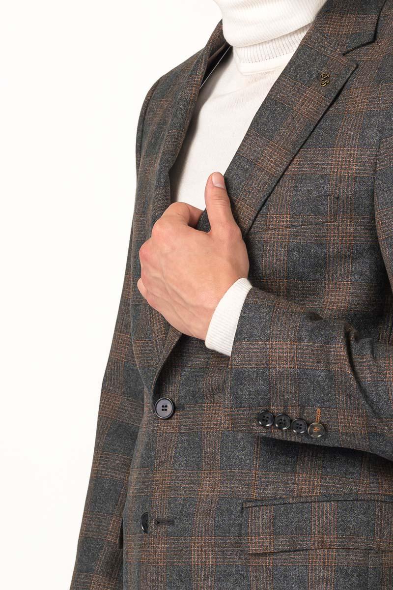 Varteks Karirani muški sako od runske vune