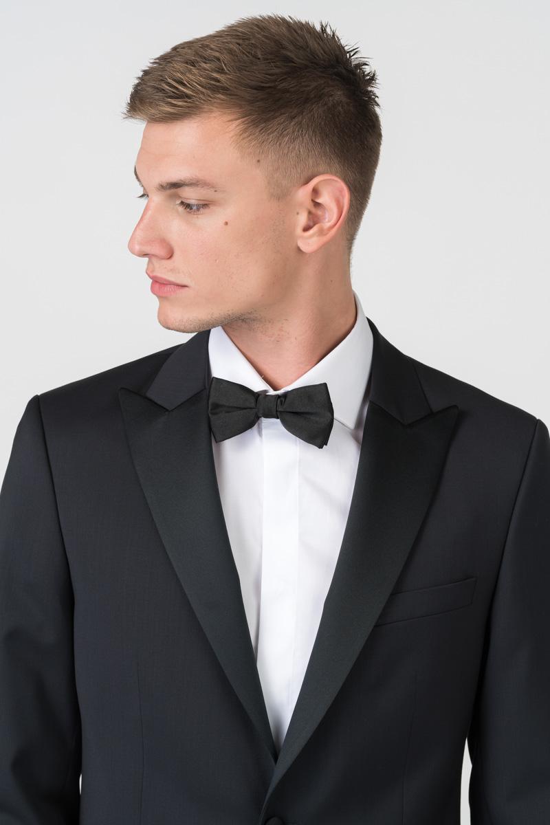 Varteks Men's black tuxedo blazer Marzotto 120s - Regular fit