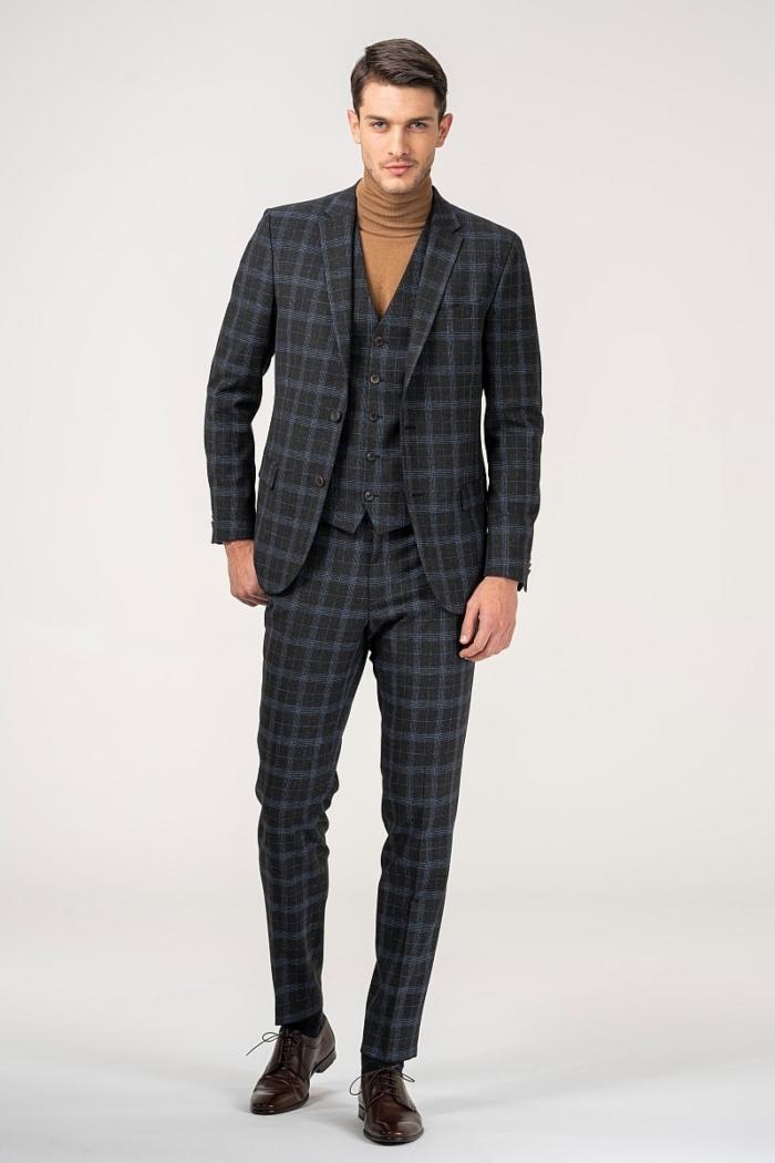 Varteks Men's plaid patterned trousers