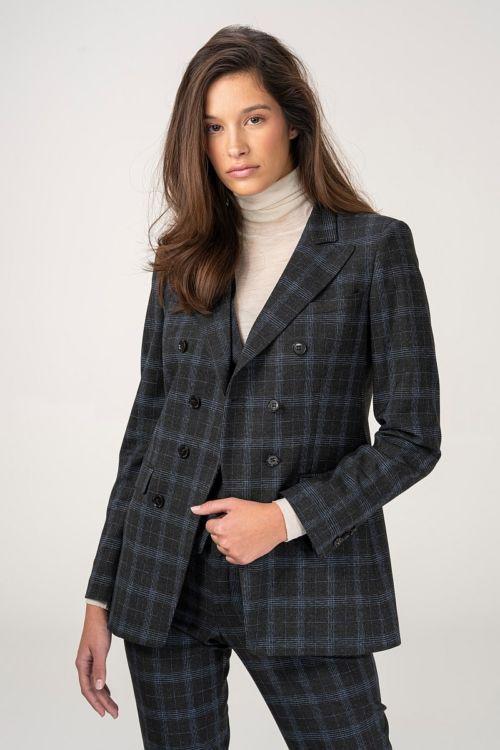 Ženski sako od odijela kariranog uzorka