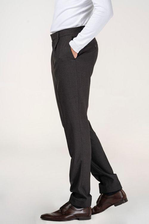 Smeđe hlače od odijela - Slim fit