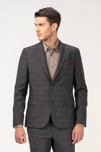 Sako od odijela s decentnim kariranim uzorkom