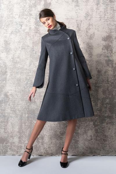 Limited Edition - Ženski sivi kaput od runske vune