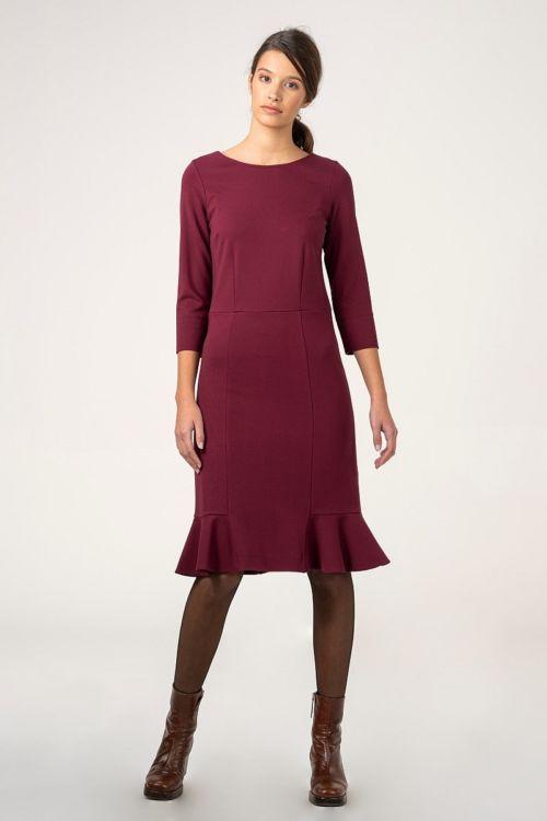 Ženska haljina s volanima u dvije boje