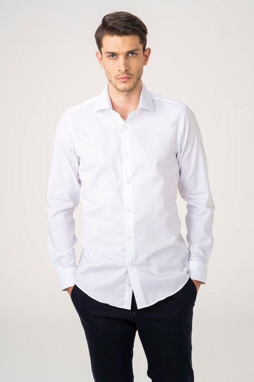 NON IRON Svečana bijela košulja - Slim fit