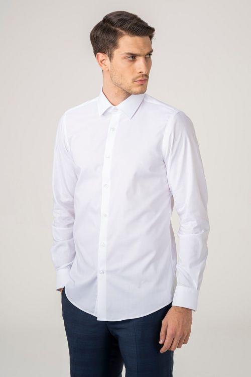 NON IRON Muška košulja bijele boje - Slim fit