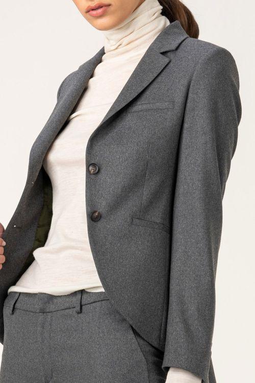 Ženski melange sivi sako