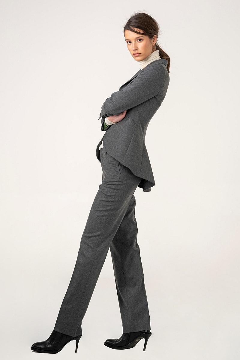 Ženske melange sive hlače na crtu