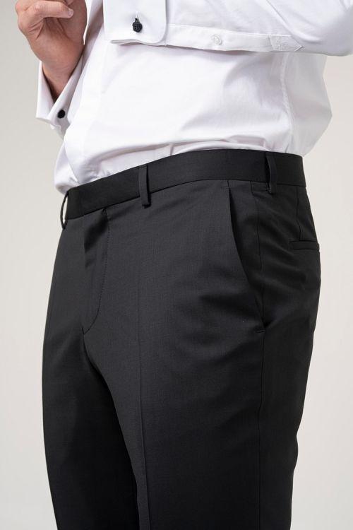 Muške hlače od smoking odijela crne boje
