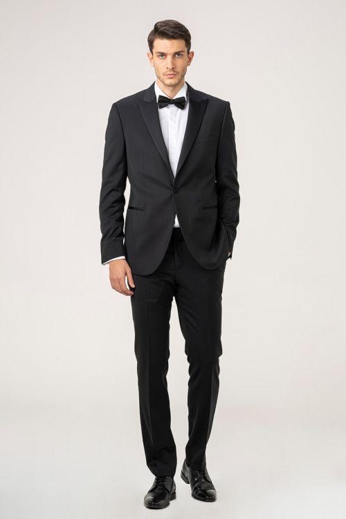 Muško smoking odijelo crne boje