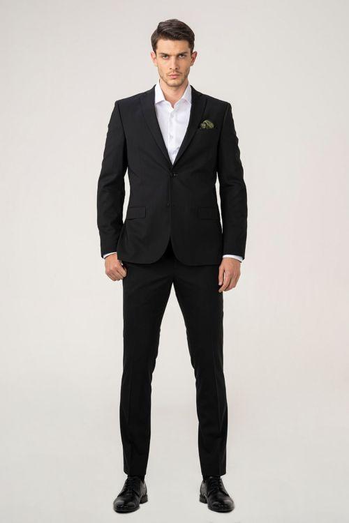 Muško crno odijelo - Slim fit