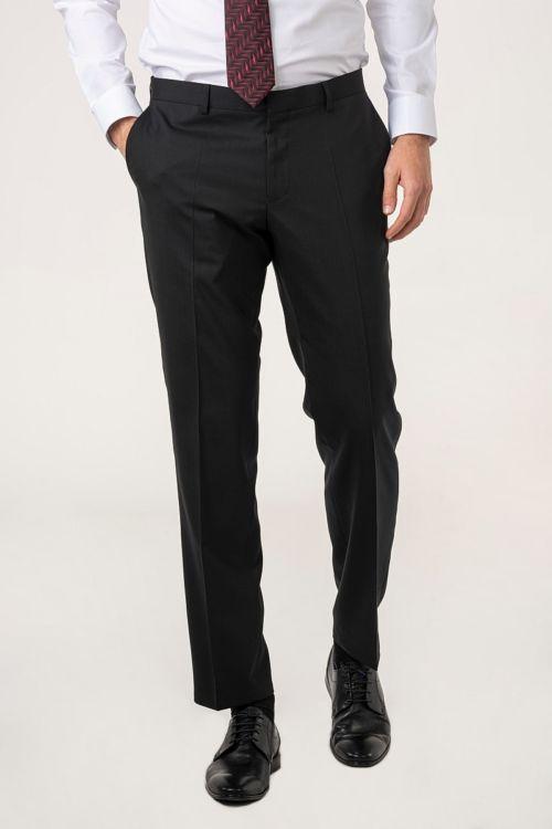 Muške hlače od odijela crne boje - Puni stas
