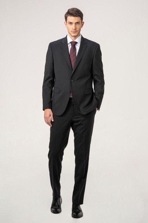 Muško crno odijelo - Comfort fit