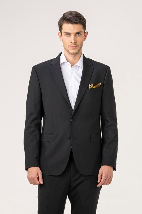 Muški sako od odijela crne boje - Puni stas