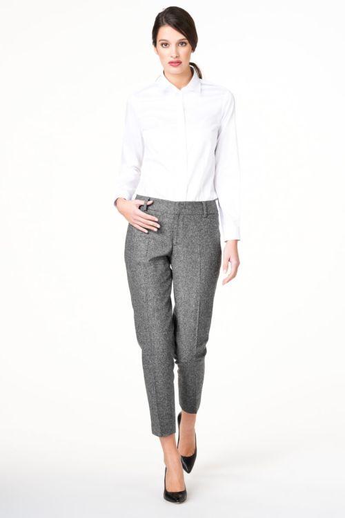 Ženske poslovne hlače sive boje
