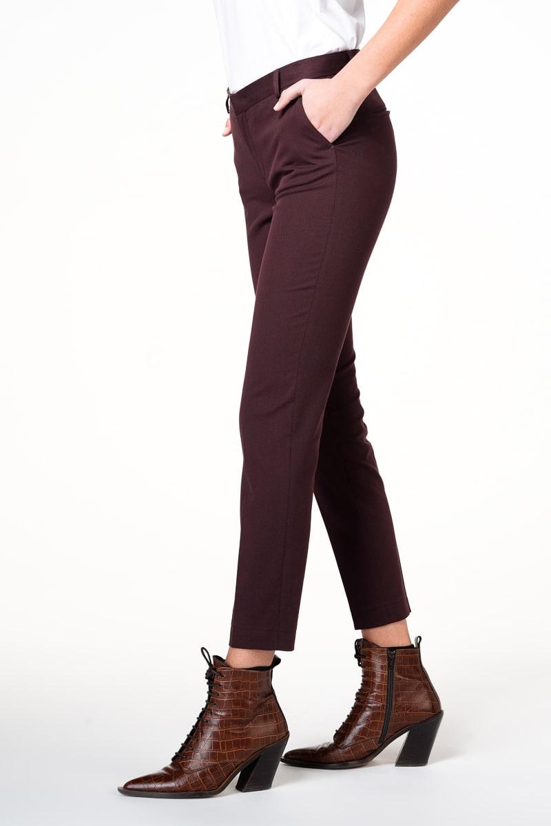 Klasične ženske hlače od pamuka u tri boje