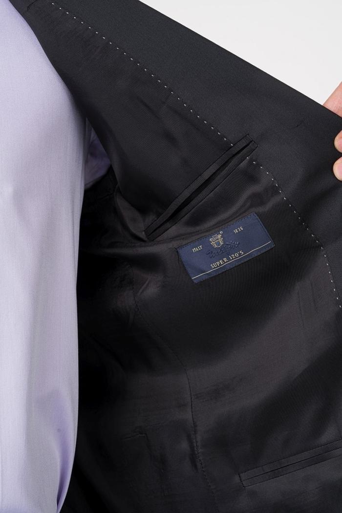Crni muški sako od odijela - Puni stas