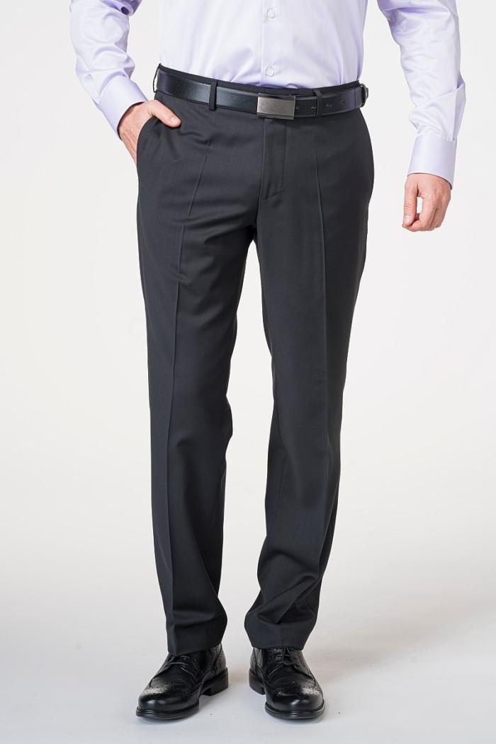 Crne muške hlače od odijela - Puni stas