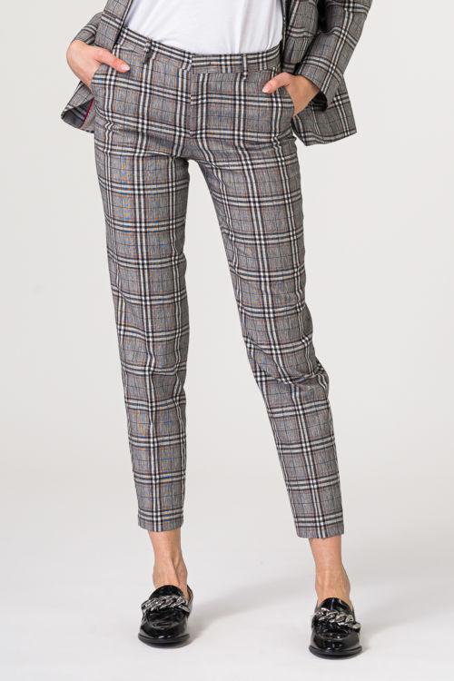 Sive karirane ženske hlače
