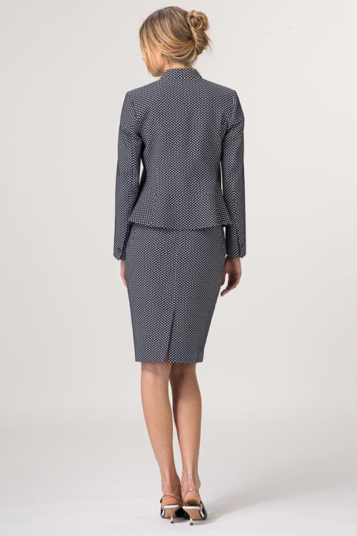 Elegantna ženska točkasta suknja