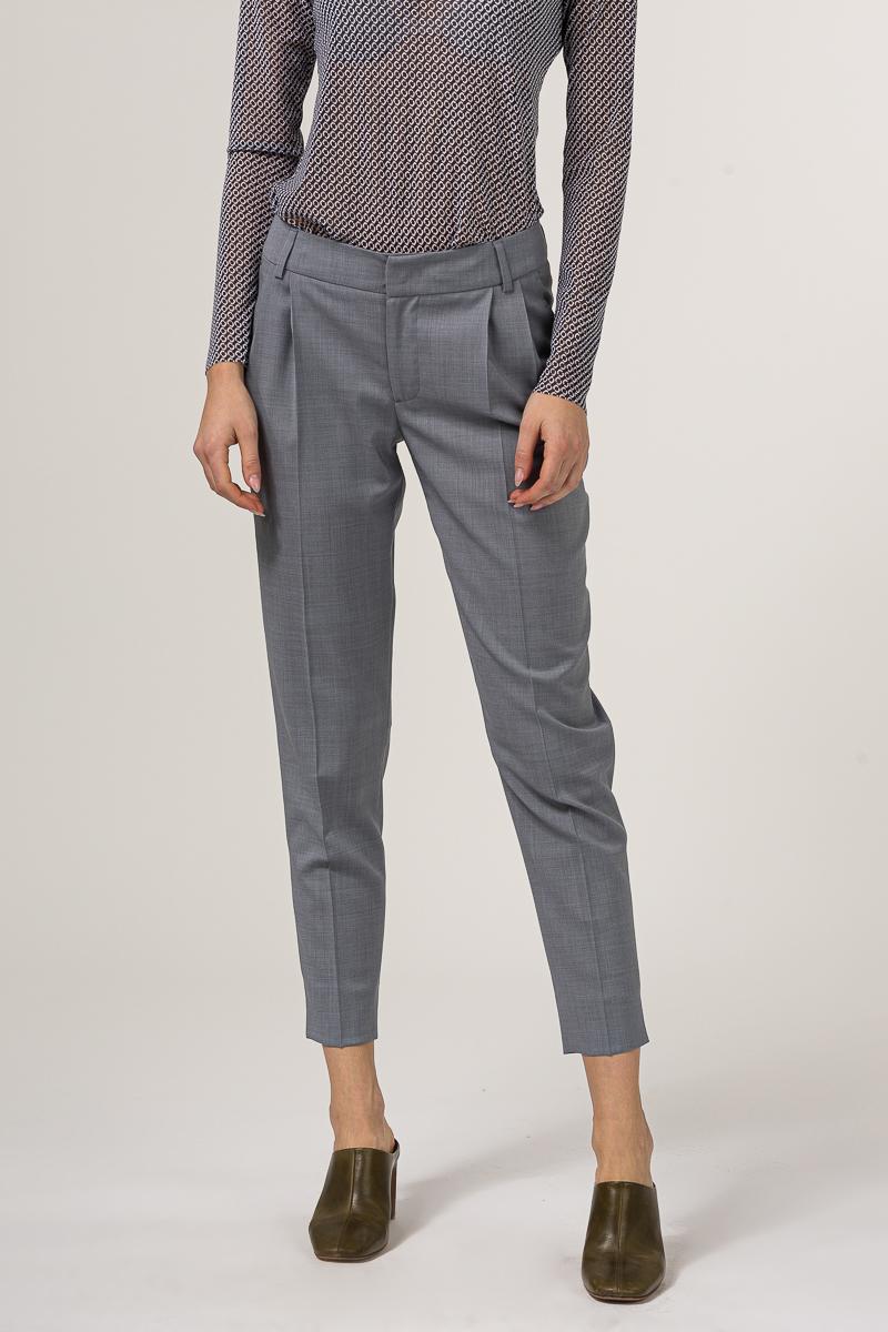 Poslovne hlače sive boje 7/8 -100% runska vuna