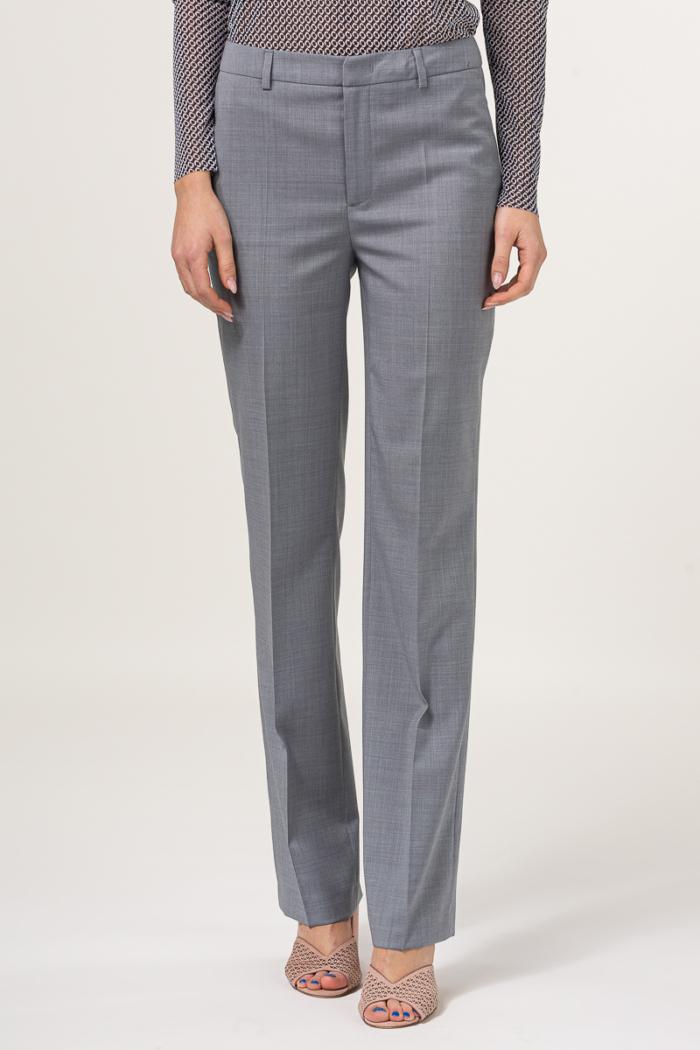 Poslovne ženske sive hlače - 100% runska vuna